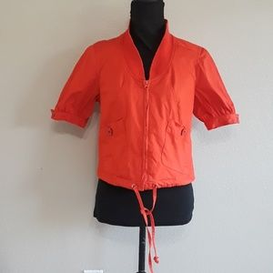 Sharango Tiger Orange Zip-Up Top Size Medium by